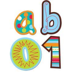 Stippen en Strepen Alfabet Stickers