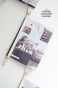 DIY LEATHER MAGAZINE HANGER (via Bloglovin.com )
