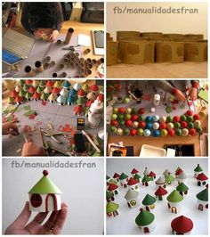You could make using toilet paper rolls & cardboard.