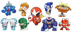 NeoGAF - View Single Post - Always wondered how other MegaMan robot masters would look like in Powered Up?
