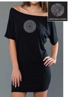 BelaBela Jersey T-Dress Black ~Find this and other Yoga Clothing at downdogboutique.com/