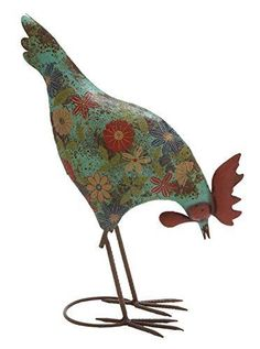 Deco 79 Metal Rooster, 14-Inch by 18-Inch.