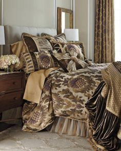 Luxury bedding with French style opulence. Finest fabrics and trims.