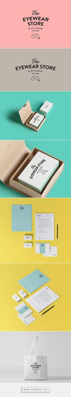 The eyewear store branding logo corporate identity stationary graphic design business card letterhead enveloppe shopping bag minimal design