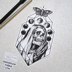 Praying nun with Moon phases - want something unique? Commission me: www.rawaf.shop/commissions #skull #nun #moon #moonphases #moth #dotwork #skulltattoo #moontattoo #moonphasestattoo #dotworktattoo #mothtattoo #blackwork #blackworktattoo #skeleton #skeletontattoo