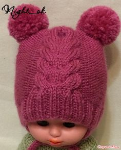 Find and save knitting and crochet schemas, simple recipes, and other ideas collected with love. Crochet Baby Beanie, Crochet Cap, Baby Hats Knitting, Diy Crochet, Hand Knitting, Knitted Hats, Kids Knitting Patterns, Knitting For Kids, Crochet For Kids