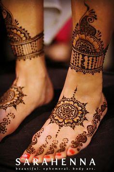 Inderjeet's bridal feet