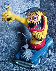 Big Daddy Roth's Mr Gasser plastic model kit Vintage Models, Old Models, Plastic Model Kits, Plastic Models, Retro Toys, Vintage Toys, Ed Roth Art, Chevy Models, Cool Monsters