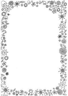 Kirjoittaminen - Värinautit Page Borders Design, Border Design, Borders For Paper, Borders And Frames, Preschool Crafts, Crafts For Kids, Kindergarten Portfolio, Free Printable Stationery, Doodle Lettering