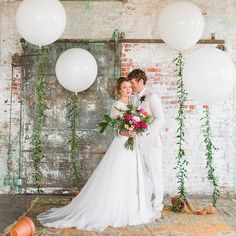 """Balloons are always a cause for celebration @freixenetusa Photo @sarahmckay, floral + event design @belovely_design, styling @byemilyb, venue + rentals @maggpierentals, wedding gown @bhldn, hair + make up @truebeautymarks and wedding stationery @papertreestudio #onRuffled #blackbottlebubbly"" Photo taken by @ruffledblog on Instagram, pinned via the InstaPin iOS App! http://www.instapinapp.com (04/30/2015)"