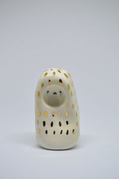 Crying Gold Spirit Cute Fine Art Ceramic Sculpture by Isobel Higley