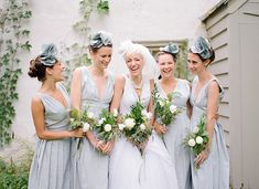 bridesmaids + fascinators // photo by Anna Page Photography // http://ruffledblog.com/english-inspired-milwaukee-wedding
