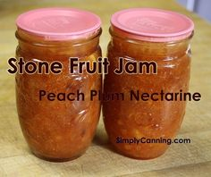 Peach Nectarine Plum Jam Stone Fruit Jam.