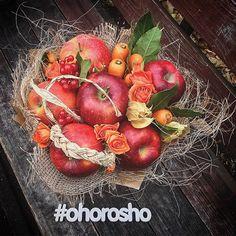 Морковно-яблочный фреш с физалисом и сезонными ягодками ✨✨ Букет в размере, как на фото, стоит 1500 в Красноярске, 1800 в Питере и 2000 в Москве