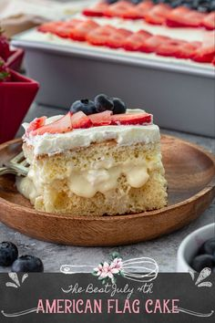 An American Flag Cake that not only looks pretty and patriotic but also tastes amazing? Yes, it exists! This easy American Flag Cake recipe makes an eye-catching centerpiece for your Memorial Day or Fourth of July celebrations. This is the BEST patriotic American Flag Cake that you'll come back to over and over again! #americanflag #cake American Flag Cake, Sweet Condensed Milk, Stabilized Whipped Cream, Sponge Cake, Get Outside, Cake Pans, Fourth Of July, Memorial Day, How To Look Pretty