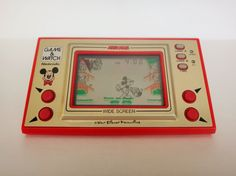 Vintage 1981 Nintendo Mickey Mouse Game And Watch Wide Screen Hand Held Game Model Number Great Working Condition! Retro 1, Retro Toys, Mickey Mouse Games, Game & Watch, Vintage Games, Games To Play, Childhood Memories, Nintendo, My Etsy Shop