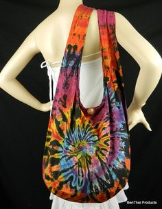 Swirl Tie Dye Bag Purse Sling Messenger by BenThaiProducts on Etsy, $13.99