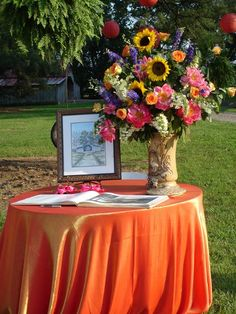 Use wine barrel at ceremony for seating info and itinerary
