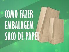 Como Fazer Embalagem de Papel - Sacola Papel Kraft #cristinaduarte07
