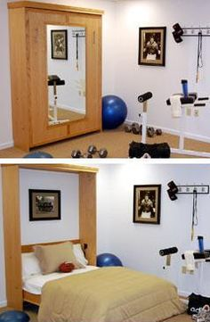 Murphy Bed for the Workout Room