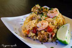 Paella s chorizem a krevetami ~ Mangiare squisito ~ Foodblog