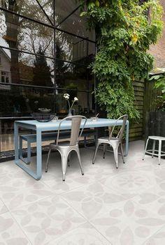 Patio floor: Duo stone uni Hormigon Grey in cm