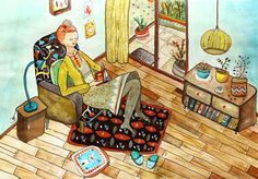 Reading weekend by Denise Hermo #illustration #reading