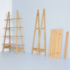 Flat pack furniture just got interesting - no glue, no screws. Ambrose A Frame Shelving System by Matt Elton | Shelving Units | Shelving & Storage | Furniture | Heal's