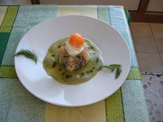Rustique   torteau de  sardine   oeuf     sauce  de  fenouil   Gino D'Aquino.