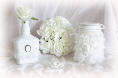 Bouteille et bocal frou frou création Natydeco en vente sur  http://www.natydecocorse.com