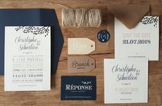 Faire-part Mariage champêtre chic dans un style nature kraft marine et lin #naturel #marine #chic #kraft #fairepart #fairepartmariage #mariage2019 #mariagegay #mariagechampêtre #mariagetendance #designmariage #weddingcard #weddingdesign #chic #élégant #champêtre #kraft #kraftpaper #papeterie #paper #font #gaywedding #graphisme #graphicdesigner #savethedate #croquezlapomme Happily Ever After, Happy Day, Save The Date, Wedding Day, Wedding Inspiration, Dating, Place Card Holders, Cards Against Humanity, Messages