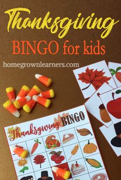 Thanksgiving Bingo For Kids — Homegrown Learners