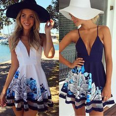 Sexy Women Summer V Neck Bodycon Casual Party Evening Cocktail Short Mini Dress on Luulla