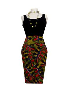 African print skirt by lovebatique on Etsy