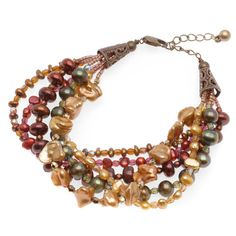 Tutorial - How to: Shades of Autumn Bracelet | Beadaholique