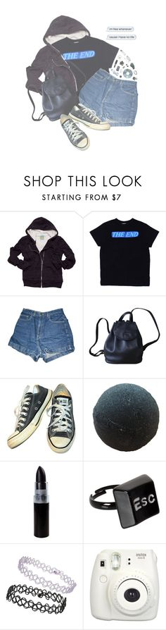 """""""Where Is My Mind?"""" by alltimegabi ❤ liked on Polyvore featuring C&C California, American Apparel, Longchamp, Converse, ASOS, Topshop, Polaroid, Fujifilm and Hot Topic"""