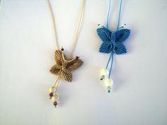 Macrame necklace. Butterfly necklace. by asmina on Etsy, $15.00