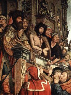 Ecce homo - He aquí al hombre: Jesús expuesto al escarnio de la plebe.