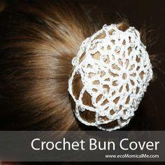#Crochet Ballet Hair Bun Cover @ecoMomical Me