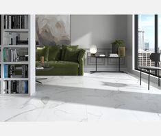 Carrara Marble Matt Porcelain Floor Tile - Carrara from Tile Mountain