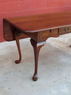 American Console Table Sofa Table Drop Leaf Table from mrbeasleys on Ruby Lane