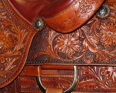 hand tooled leather saddle by LeeHoney #saddle #western #tooled