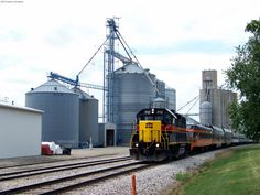 The NRHS Newton Excursion making a return trip to Cedar Rapids, passing the quiet hamlet of Kellogg, IA. 6/20/12