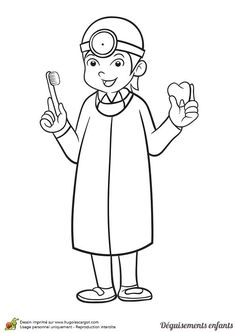 Great Teeth Coloring Pages Boy Brushing Tooth Pic