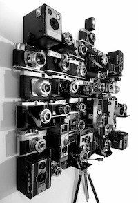 'Smudger's Tools' vintage camera assemblage by Laurence Poole 2011.