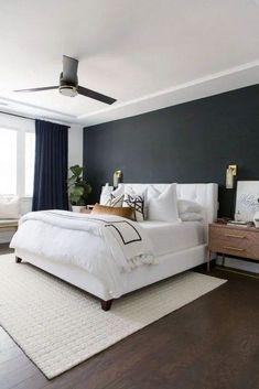 Small Master Bedroom, Master Bedroom Makeover, Gray Bedroom, Master Bedroom Design, Home Bedroom, Modern Bedroom, Bedroom Decor, Master Bathroom, Contemporary Bedroom