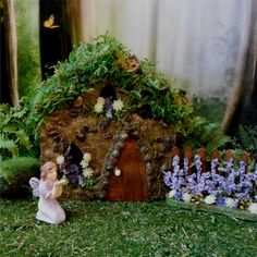 Heather Hill Fairy House Stone Cottage for by enchantedgardens