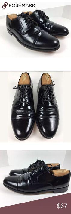 Coke Haan Cassidy 10M Black Oxford Cap Toe Shoes COLE HAAN Men s Cassady  10M Black Leather ed35c83c4