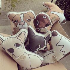 Corgi Pillow // Dog Shaped Pillow by karaburkeillustrates on Etsy, $30.00