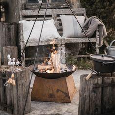 Vintage Feuerschale Rost